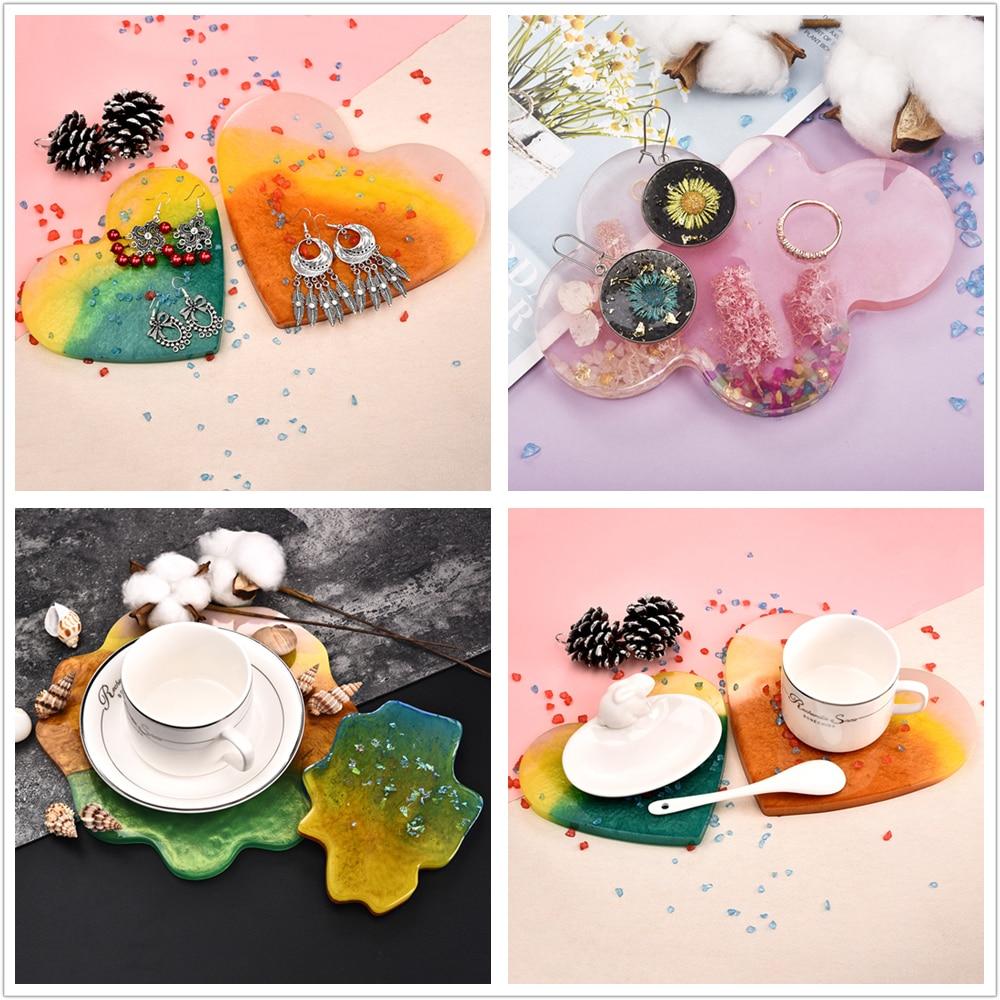 Купить с кэшбэком Maple Leaf Silicone Molds Palm Epoxy Resin Molds Casting Coaster DIY Coasters Mould Jewelry Making Tools