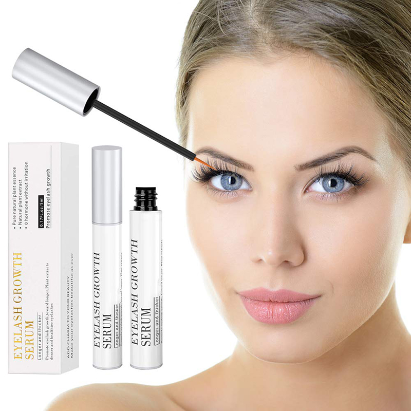 4D Mascara Makeup Eye Lash Lift Growth Serum Enhancer Longer Thicker Korean Cosmetics 7 Days Eyebrow Oil for Eyelashes 5ml