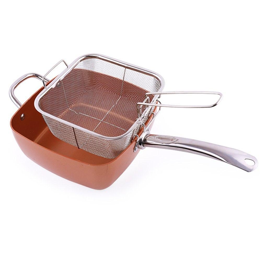 Copper Pan Copper Color Aluminum Pot Four-Piece Suit Non-Stick Household Fashion Professional Life Small Helper