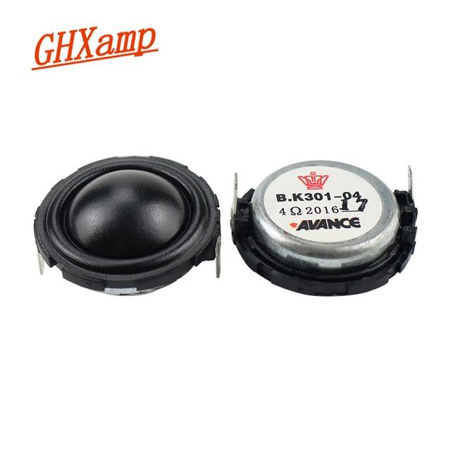 Ghxamp 1.5 polegadas 40mm alto falante agudos tweeter unidades de seda filme febre alto falante unidade 4ohm 20 w tweeter com 74mm painel 2 pces