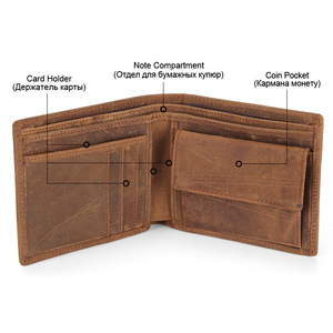 Image 3 - Flanker 100% Genuine Leather Men Small Wallet Casual Short Slim Wallet Brand Bifold Purse with Coin Pocket Card Holder PORTFOLIO