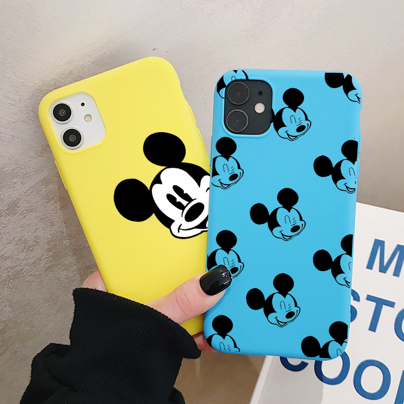 Cartoon Mouse Phone Case For Huawei P40 P30 P20 P10 Pro Lite Plus Frosted Silicone Cases Soft Back Cover