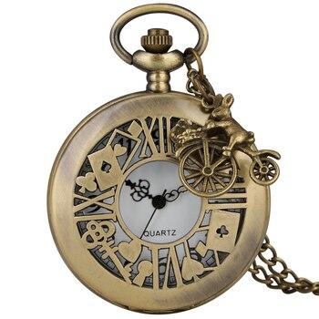 Alice-funda de reloj de bolsillo, hueca, alicia en reloj País de las...