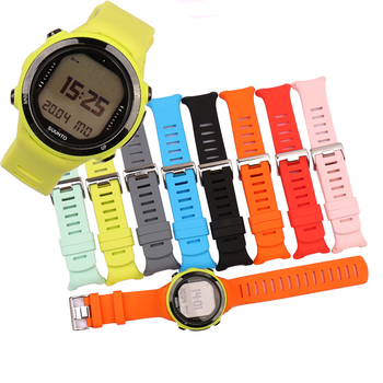 Silicone strap male pin buckle watch accessories suitable for Suunto D4 D4i Novo outdoor sports diving watch strap female band suunto d4i novo pink