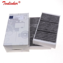 Салонный фильтр A1668300318 2 шт. для Mercedes GL-CLASS X166 2012-/M-CLASS W166 2011- модель автомобиля Встроенный углеродный Fiilter