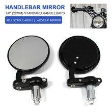 Universal guiador da motocicleta extremidade barra espelho retrovisor para honda cb500 cb650r cafe racer para yamaha mt07 mt09 mt 09 para suzuki