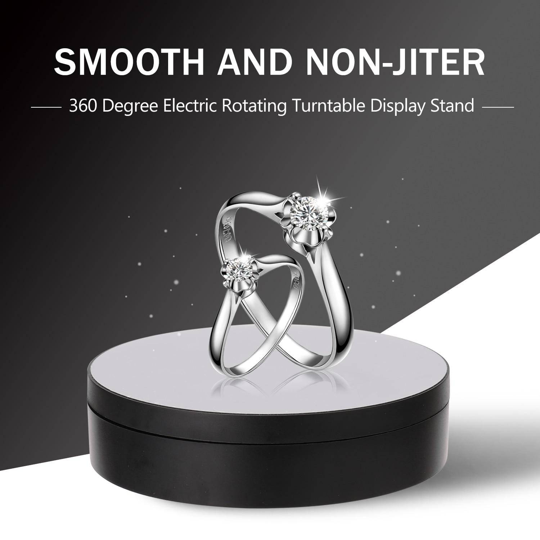 360 grad Hohe Qualität Elektrische Drehteller Display Stand für Fotografie Video Schießen Requisiten Schmuck Display Plattenspieler