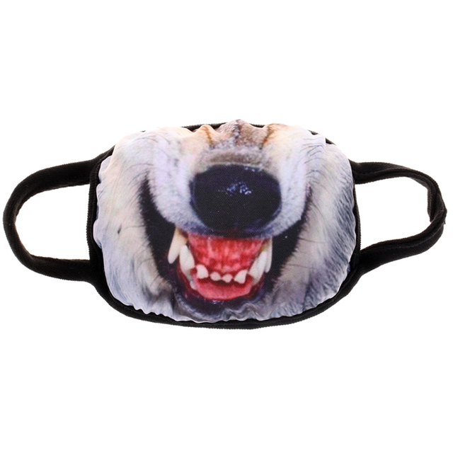 Funny Creative Vampire Smile Unisex Face Mask PM2.5 Flu Dust Shield Toothy Animal Monster Mouth Masks for Men Disposable Cover 4