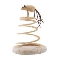 1 adet komik kedi Teaser Spiral enayi leopar bahar kürklü Pet fare oyuncak interaktif elastik tüy oyuncaklar|Kedi Oyuncağı|Ev ve Bahçe -