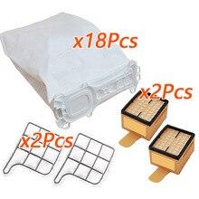 22Pcs Stofzuiger Filter Tassen Voor Vorwerk Kobold 135 136 135 Sc VK135 VK136 Stofzakken Vervangen Vacuüm cleaner Accessoires