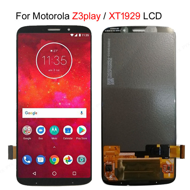 Test Amoled Screen For Motorola Moto Z3 Play LCD Display Touch Screen Digitizer Assembly Replacement Parts For Moto XT1929 LCD