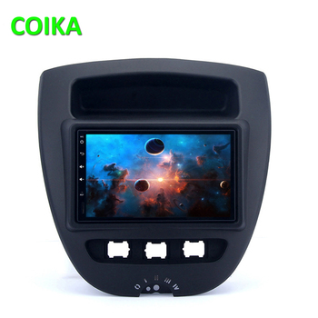 COIKA 8 Core Car GPS Navi Stereo For Toyota Aygo Android 9.0 System 4+64GB RAM WIFI SWC BT OBD DVR Radio IPS Touch Radio DSP