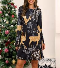 Christmas Long Sleeve O Neck Dress 2019 Autumn Winter Festival Family Party Dress Women Deer Candy Snowman Print Ugly Dress baked doll christmas candy party dress