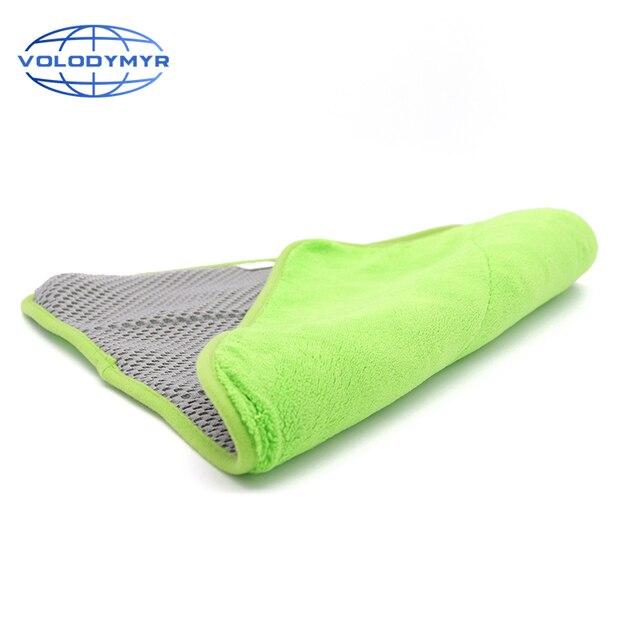 Toalla de microfibra, toalla para limpieza de coche, herramientas de Auto detalle 40*40cm con malla para limpieza de coches, detalle de secado, lavado de coches