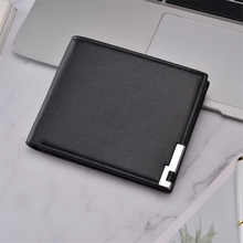 2019 Ultra-thin Short Sequined Men Wallets with Coin Bag Bla