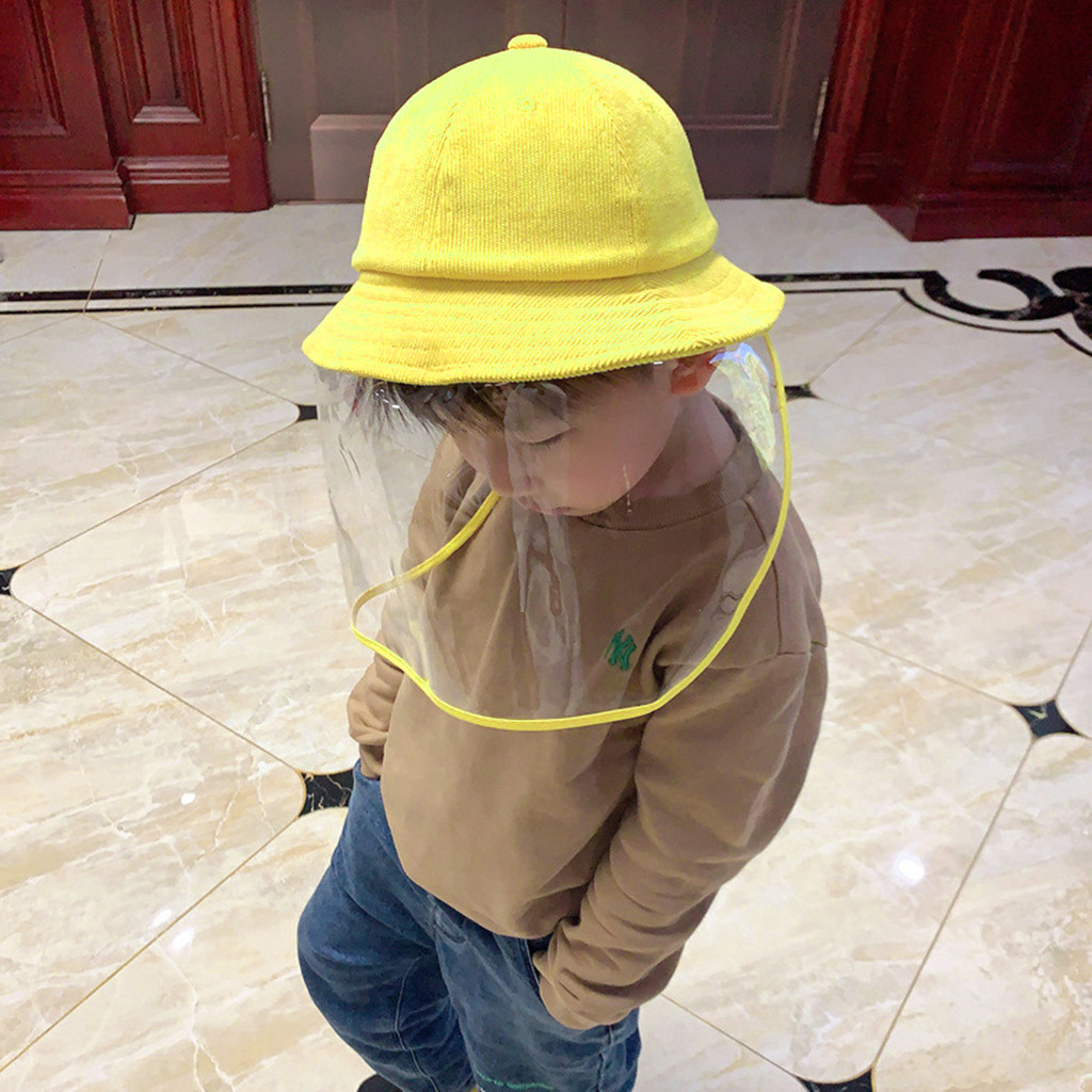 40^Anti  Hat 4-8 Years Old Children Anti-spitting Protective Hat Dustproof Cover Peaked Hat Anti-fog Mask маска маски 마스크