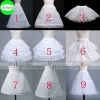 Flower Girls Petticoat Underskirt Cosplay Party Short Dress Jupon Enfant Fille Lolita Ballet Tutu Skirt Enaguas Sottogonna Mini 1