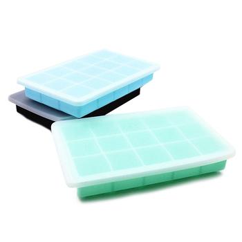 15 siatka spożywcza silikonowa taca na kostki lodu kwadratowa maszyna do lodu forma kostki lodu silikonowa kostka lodu z pokrywką strona główna DIY forma kostki lodu tanie i dobre opinie Other CN (pochodzenie) Ekologiczne Na stanie Ice Mold Maker CE UE Food grade silica gel green blue black (optional) 18 5*11 7 cm 7 3*4 6