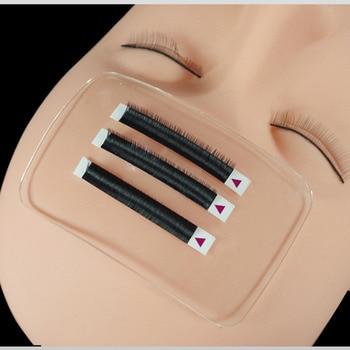 1* Eyelashes Pad Transparent Silicone Planting Practice Lint Free Eyelid Makeup Grafted False Eyelash extension supplies tool