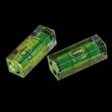 1/2PCS 10*10*29 Mm quare Spirit Level Bubble with Magnetic stripe Green 1