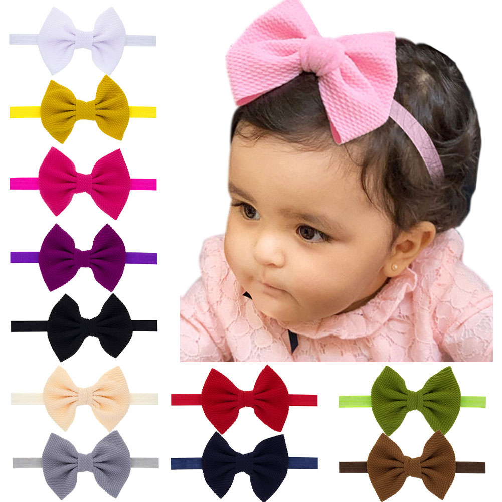 New Kids Girls Baby Headband Toddler Bow Flower Hair Band Accessories Headwear