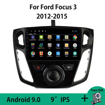 Android 9.0 Car Radio Multimedia Video Player For Ford Focus 3 2012 2013 2014 2015 Navigation GPS No DVD 2din Autoradio Wifi OBD image