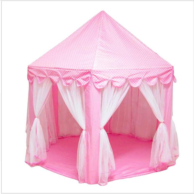 Baby Play Tent Portable Folding Prince Princess Tent Children Castle Play House Kid Gift Outdoor Beach Tent Toys For Kids Wigwam|Toy Tents| |  - title=