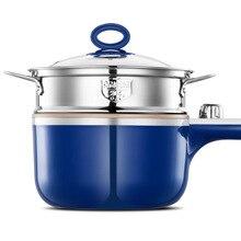 2 слоя мульти-функциональный мини электрический котел Плита отпариватель сковорода для жарки суп производитель общежития мини приготовления вок горячий горшок Плита 220V