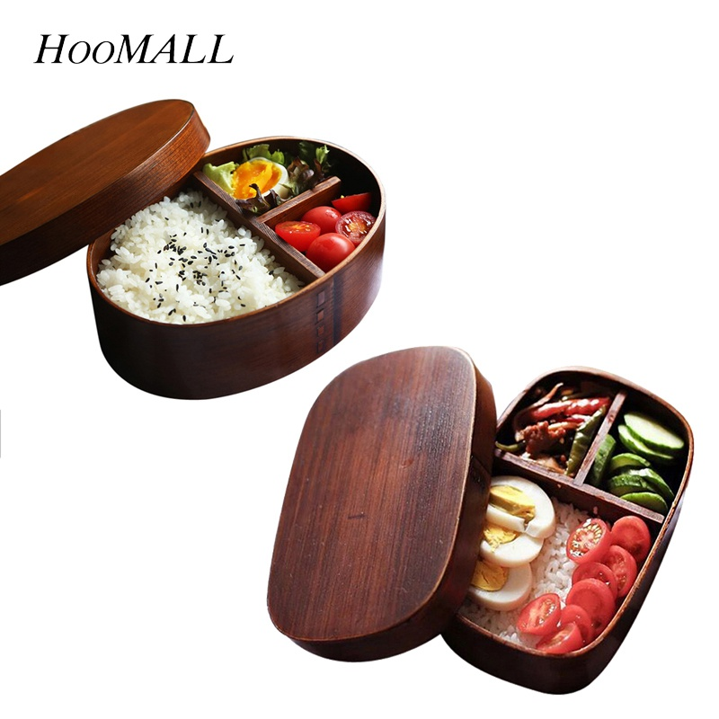 Food Container Sushi Box Tableware Bowl Wood Wooden Natural Dinnerware Sets Eco-friendly Japan Style Handpainted Solid Japanese