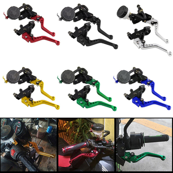 цена на 2PCS Universal 7/8 Inch 22mm Motorcycle Bike Clutch Brake Master Cylinder Reservoir Levers Kit Fluid Reservoir Set