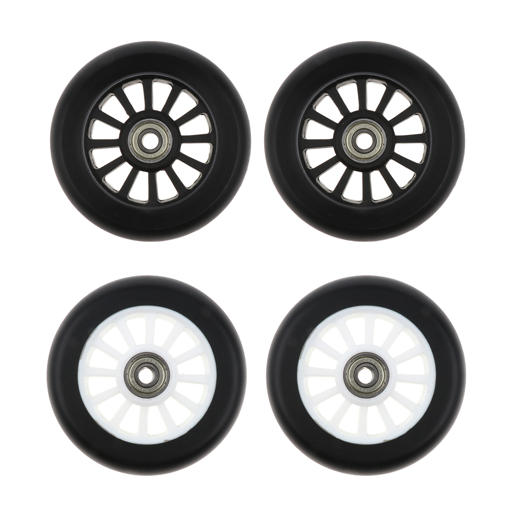 2pcs PU Scooter Wheels Speed Skates Trolley Wheels Replacement 100mm Outdoor Sports Accessories