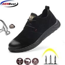 جاكيت جلدي بيع مباشرة المبيعات الرجال والنساء سلامة الأحذية في الهواء الطلق تنفس أحذية رجالي الصلب اصبع القدم ارتداء مقاومة العمال الرياضية
