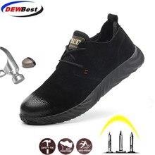 Leder top verkauf direkt verkäufe männer und frauen sicherheit stiefel outdoor atmungsaktive männer schuhe stahl kappe tragen beständig arbeiter sport