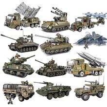 2021 guerra mundial 2 ww2 exército militar soldado cidade polícia swat armadura tanque veículo figuras blocos de construção tijolos crianças brinquedos