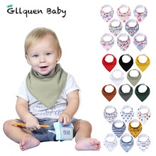 8 Pack Baby Bandana Drool Bibs Organic Absorbent Soft Cotton Drool Bibs for Teething Feeding Unisex Baby Shower Gift Set Stuff