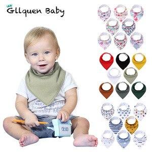 8 Pack Baby Bandana Drool Bibs Organic Absorbent Soft Cotton Drool Bibs for Teething Feeding Unisex Baby Shower Gift Set(China)