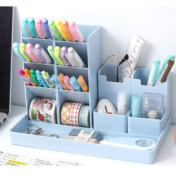 Penholder Desk Organizer Desktop Cute Penholder Organizers For Desktop Office Desk Accessories Stand Stationery & Office Storage 1