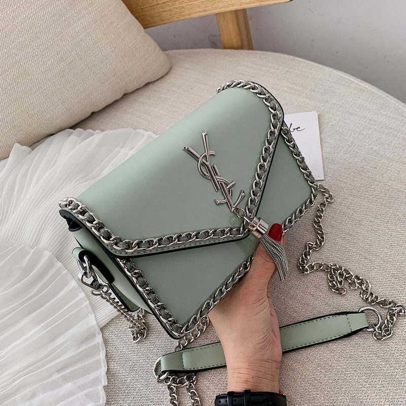 Single Shoulder Bag Girl 2019 New Fashion Girl Hundred Lap Chain Oblique Satchel Bag