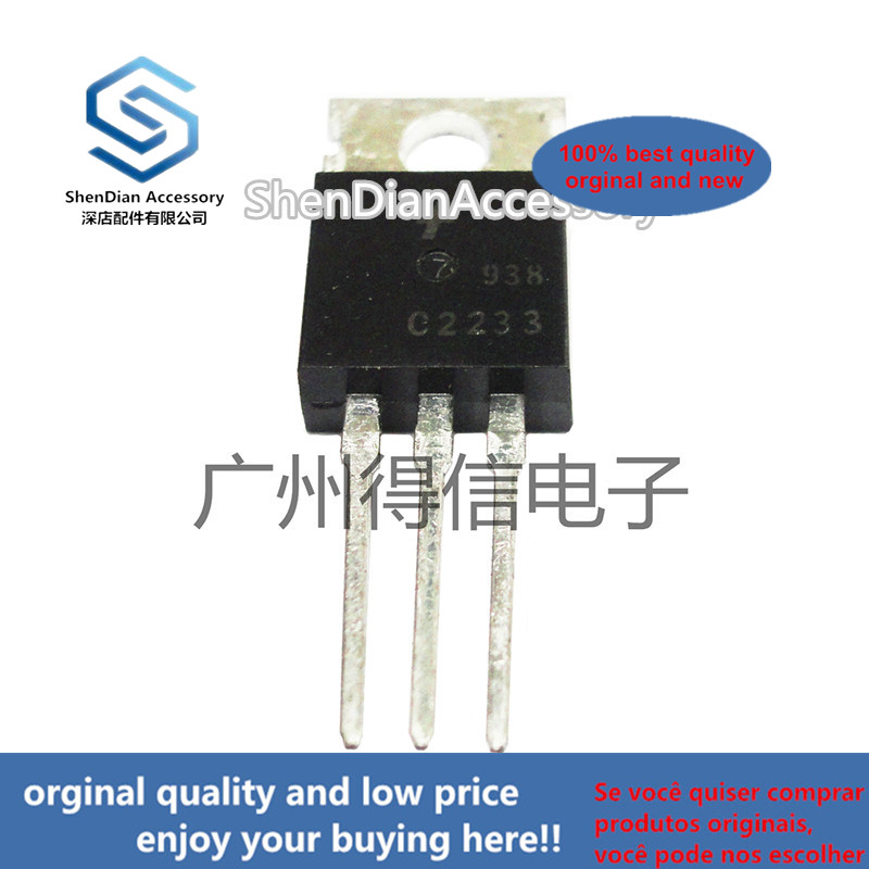 10pcs 100% New And Orginal KSC2233 C2233 TO-220 B/W TV Horizontal Deflection Output In Stock