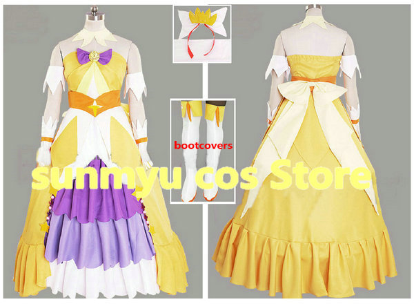 Customize,Free Shipping! Go!Princess PreCure Pretty Cure Cure Twinkle Dress Cosplay Costume,Custom Size Halloween