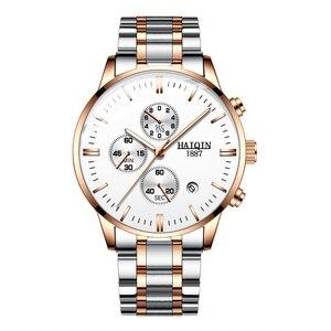Image 5 - Мужские модные часы HAIQIN, роскошные/спортивные/военные/золотые/кварцевые наручные часы для мужчин