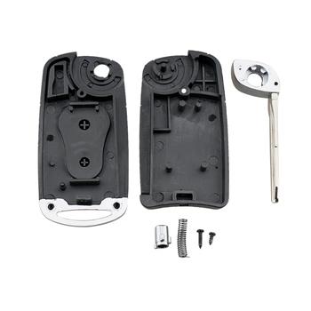 Ulepszony odwróć składany pilot 2 przyciski obudowa kluczyka do samochodu Auto obudowa kluczyka do samochodu wymiana obudowy pasuje do SsangYong Actyon Kyron Rexton tanie i dobre opinie CN (pochodzenie)