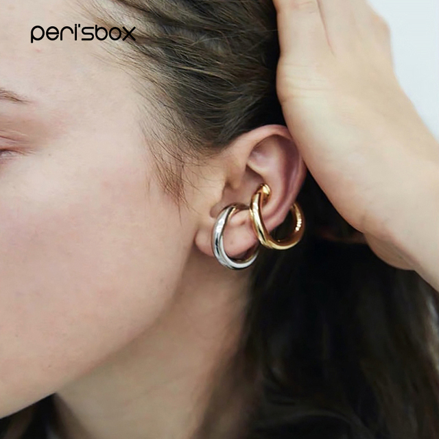 Peri sBox Trendy Solid Gold Cartilage Earrings Geometric Circle Ear Cuff Durable Purpose Simple Clip Earrings.jpg 640x640 - Peri'sBox Trendy Solid Gold Cartilage Earrings Geometric Circle Ear Cuff Durable Purpose Simple Clip Earrings Without Piercing