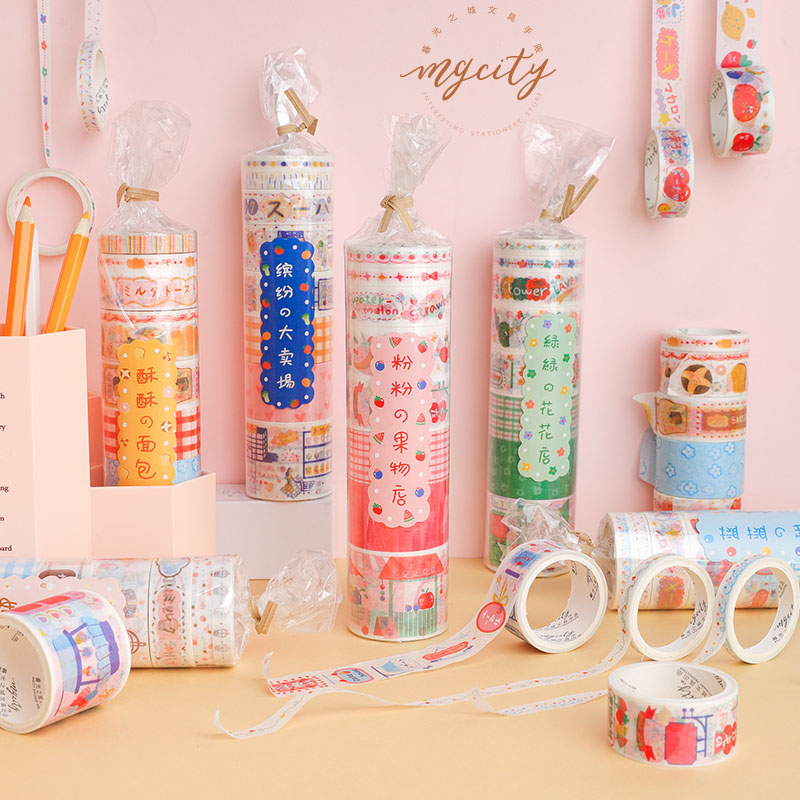 48 PCS/LOT Business Today Series Paper Decorative Tape Masking Tape Washi Tape