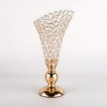 Vintage Crystal Candlestick Home Hotel Wedding Party Celebration Table Decoration Rhinestone Candle Holder