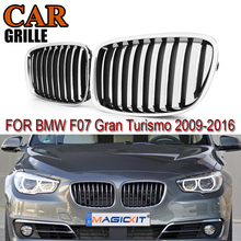 MagicKit For BMW F07 GT Chrome Front Bumper Kidney Grille Mesh 5 Series GT Gran Turismo 2009-2013 530d 535i 550i Fastback Grill