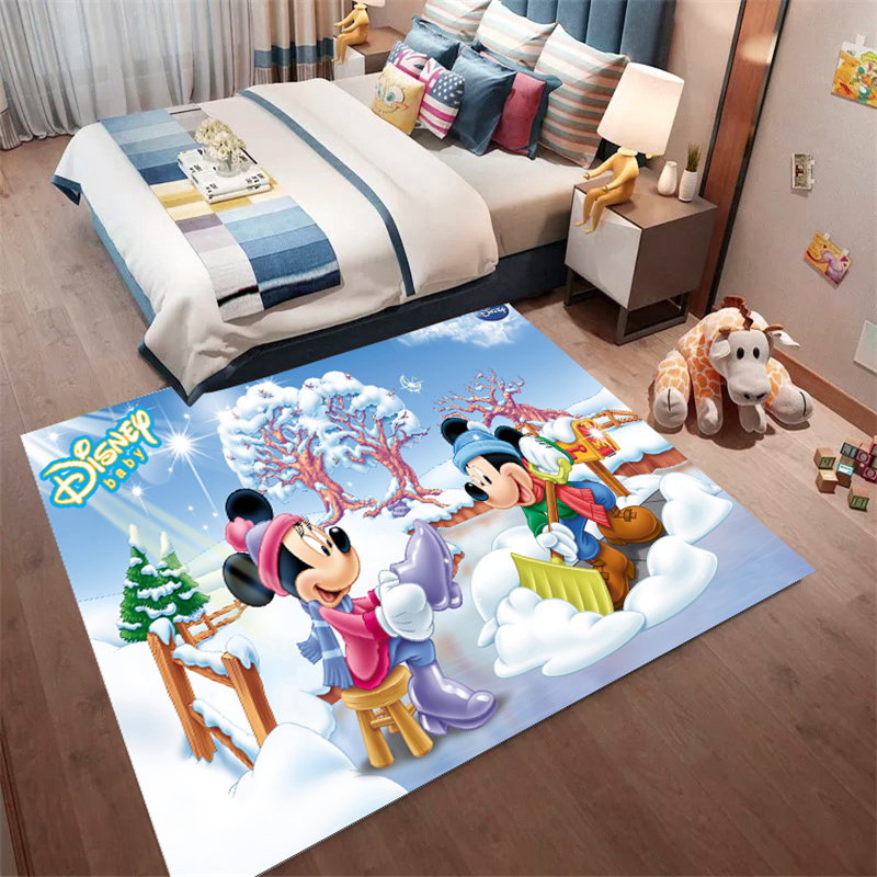 Christmas Mickey Mouse Mat Bathroom Children Carpet Hallway Doormat Anti - Slip Bathroom Carpet Absorb Water Kitchen Mat/Rug
