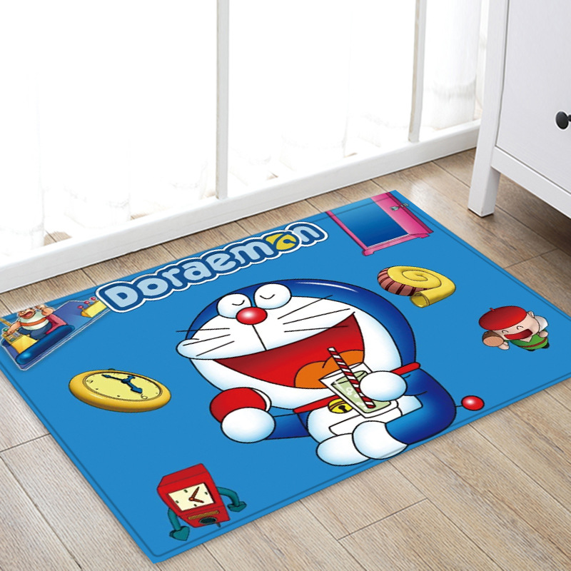 NEW Small Carpet Doraemon Customized Anime Mat Decoration Home Carpets Cartoon Rug Bedroom Floor Mats Bath Plush Rugs Doormat