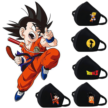 Mascarillas con diseños laterales de Dragon Ball Mascarillas de Anime Mascarillas Dragon Ball Merchandising de Dragon Ball