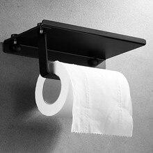 Toilet-Paper-Holder Wall-Mount Mobile-Phone Bathroom 304-Stainless-Steel Polish